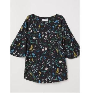 H&M x Anna Glover floral top NWT